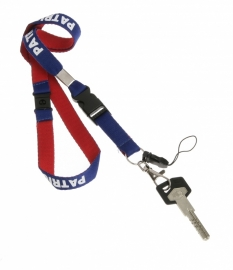 Lanyard Necklac801 Colour 125 Royal Blue/Red/White