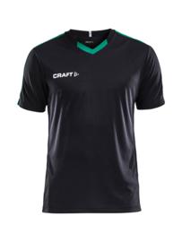 Craft Progress Contrast Shirt Kids 9651 Zwart/Groen