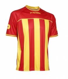 Soccer Shirt Stripes SS Coruna105 Colour  131 Red/Yellow