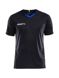 Craft Progress Contrast Shirt Kids 9346 Zwart/Cobalt