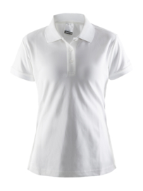 Craft Pique Polo Dames 1900 Wit