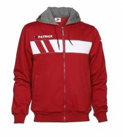 Hoody Jacket Cotton Impact120 Colour 103 Burgundy/White