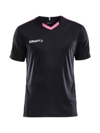 Craft Progress Contrast Shirt Kids 9471 Zwart/Roze