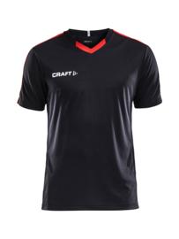 Craft Progress Contrast Shirt Kids 9430 Zwart/Rood