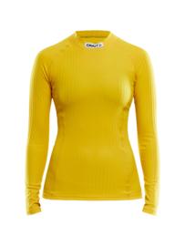 Craft Baselayer Shirt Dames 1552 Geel