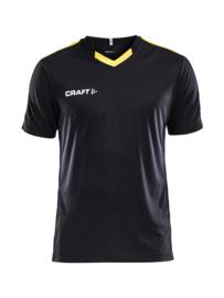 Craft Progress Contrast Shirt Kids 9552 Zwart/Geel