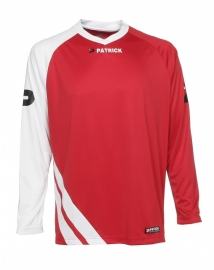 Soccer Shirt LONG SLEEVE Victory105 Colour 047  Red/White