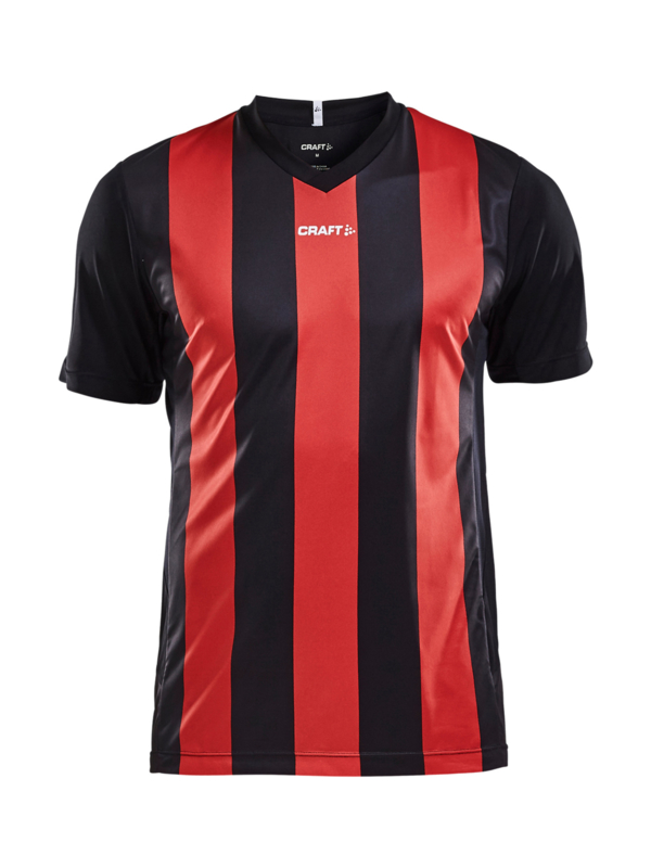 Craft Progress Stripe Shirt Heren 9430 Zwart/Rood