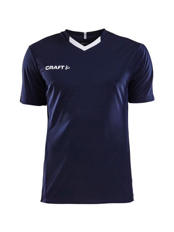 Craft Progress Contrast Shirt Heren 1390 Navy/Wit