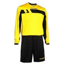 Patrick Sportswear Referee Suit LS REF525 Colour 121 Yellow/Black