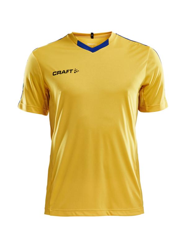 Craft Progress Contrast Shirt Heren 2552 Geel/Royal Blue