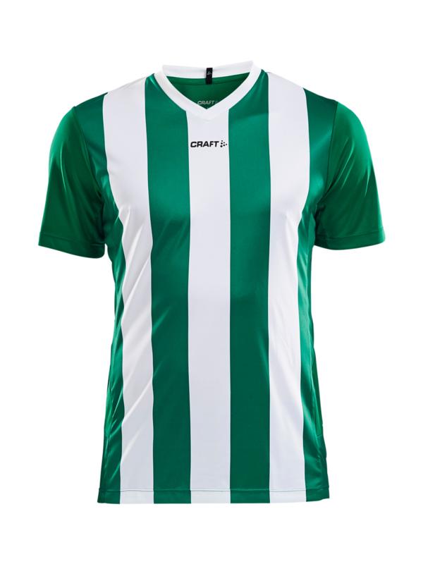 Craft Progress Stripe Shirt Heren 1651 Groen/Wit