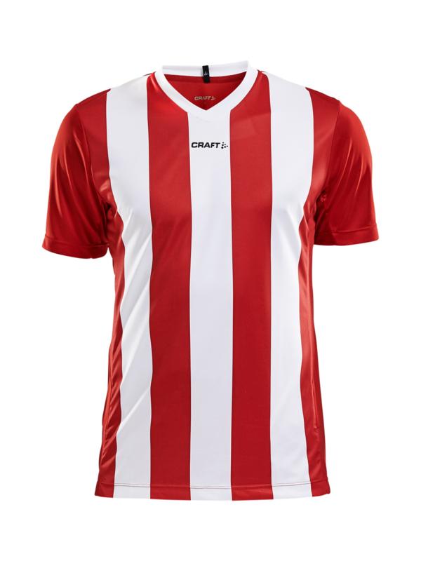 Craft Progress Stripe Shirt Heren 1430 Rood/Wit