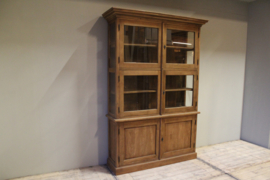 Teakhouten glas cabinet 146 cm