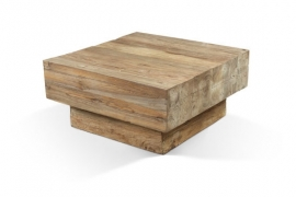 Teakhouten Cube Salontafel 100 cm