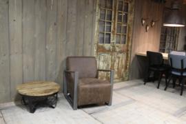 Industriële salontafel rond