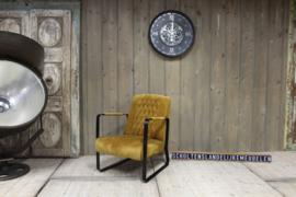 Industriele fauteuil velvet stof