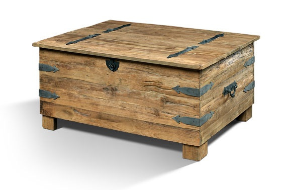 Teakhouten Box Salontafel 120 cm