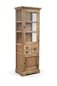Teakhouten Glas Cabinet 60 cm