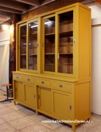 Gereserveerd / Schoolkast vitrine / schuifdeuren / e 1417