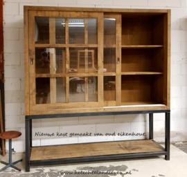 Vitrinekast /Handmade  Maatwerk / op voorraad /  e 3092