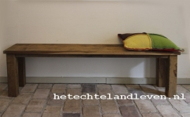 Stoere zitbank van oud eiken 0106