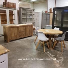 Handmade: ronde oud eiken tafels  div. afmetingen / 4009