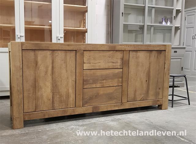 Handmade / Oud eiken dressoir / 4011