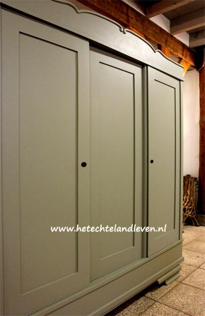 Grote 3 deuren landelijke kast / Demontabel / 4194