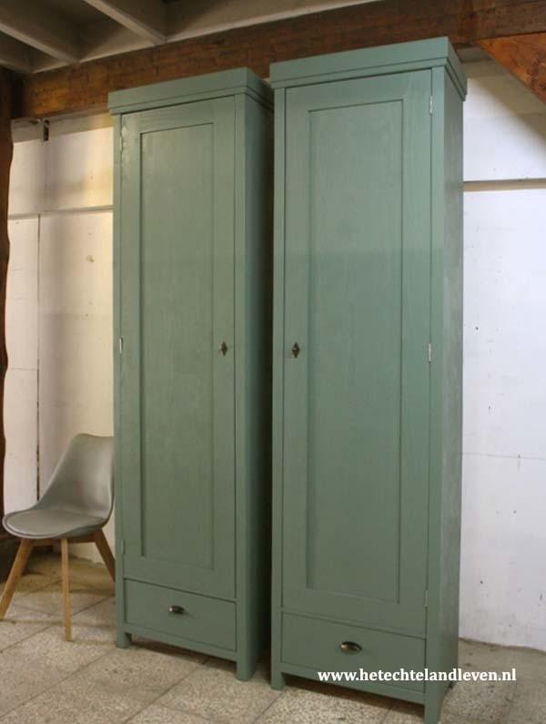 Set smalle hoge kasten / Maatwerk  / prijs set van 2 / m122