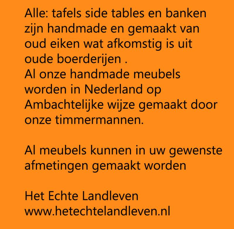 Tafels handmade