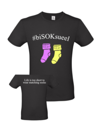 Tshirt #biSOKsueel sokken