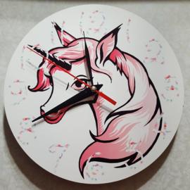 Ronde klok 20 cm met Unicorn
