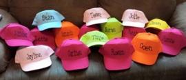 Kleurige kinder caps met naam