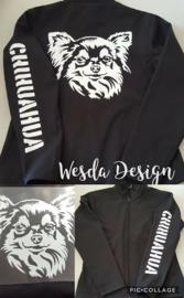 Softshell jas met afbeelding hond naar wens