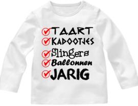 Shirt afvinken Jarig