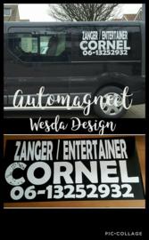 Auto magneet bedrukt met uw logo