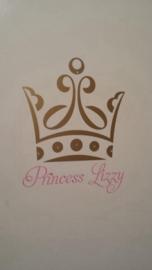 Deur sticker kroon met naam
