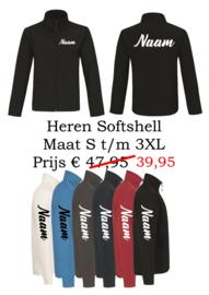 Heren Softshell met naam / logo