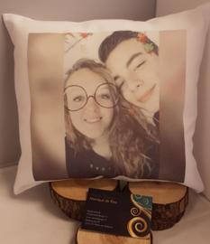 Kussen 40x40 cm met foto