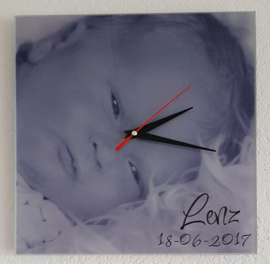 Klok geboorte foto met naam en datum
