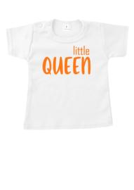 Baby shirtje Little Queen + Naam