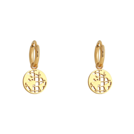 Earrings Around The Globe - Gold
