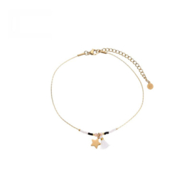 Ankle Bracelet Star - Pink/Black