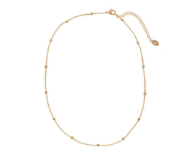 Cute Beads Necklace - Gold