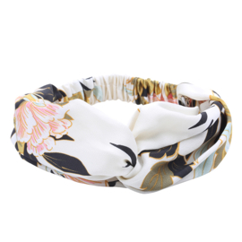 Headband Wild Flowers - White