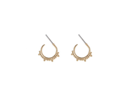 Open Trendy Dots Hoops - Gold