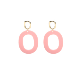 Earrings Funky Summer - Gold/Pink