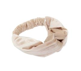 Headband Velvet - Beige