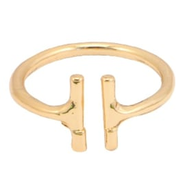 Ring Double Bar - Gold